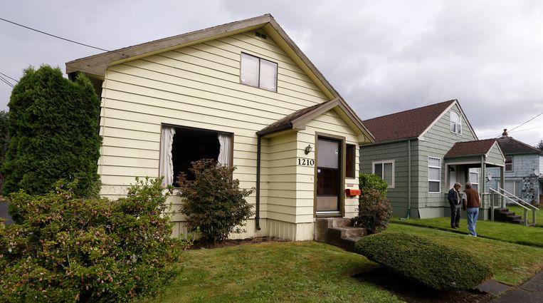 Archiefbeeld. Het ouderlijk huis van Kurt Cobain in 2013. Beeld AP