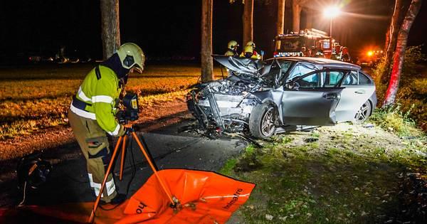 Man uit auto bevrijd na ongeluk in Sint-Oedenrode.