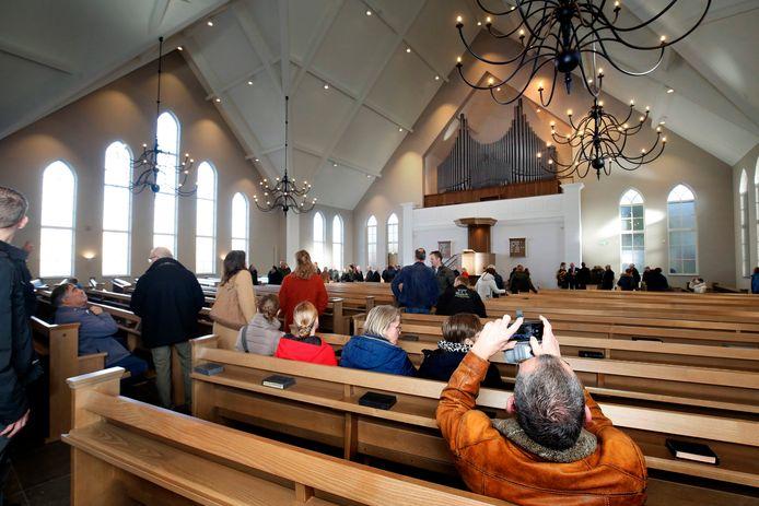 De Sealthiëlkerk in Leerdam. Deze foto is gemaakt in januari van dit jaar tijdens de open dag.
