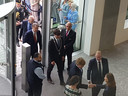 Koning wordt verwelkomd in nieuw gerechtsgebouw van Breda.