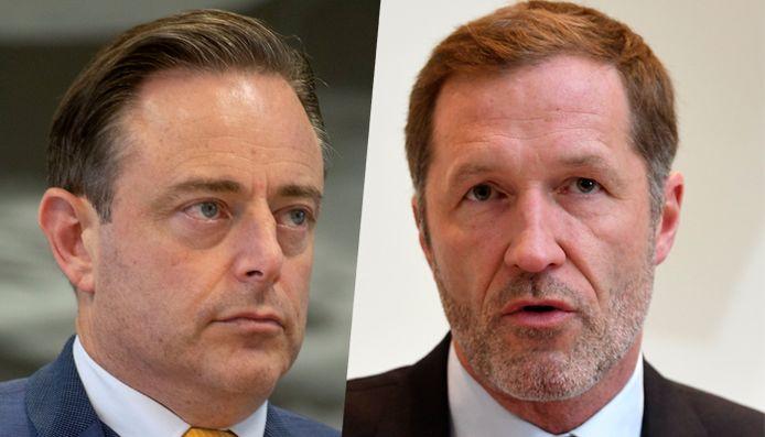 Bart De Wever et Paul Magnette, les présidents de la N-VA et du PS.