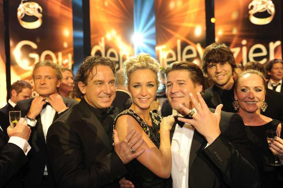 Marco Borsato, Wendy van Dijk en Martijn Krabbe van The Voice of Holland.