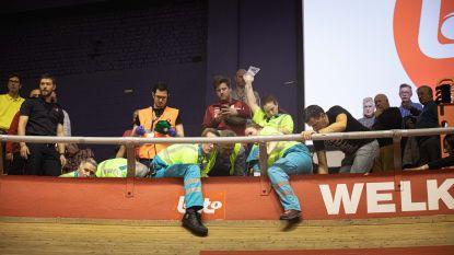 Ook tweede avond Zesdaagse ontsierd door valpartij: renners belanden in het publiek