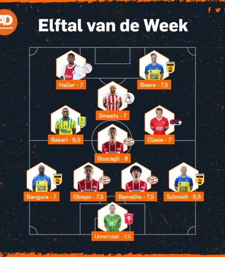 PSV en SC Cambuur vullen meer dan de helft van Elftal van de Week