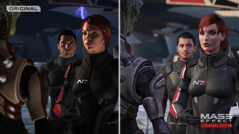 Zoek de zeven verschillen tussen het origineel uit 2007 en de Legendary-remake van 2021. Beeld BioWare