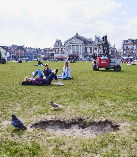 Museumplein is weer vrij voor iedereen, behalve het gras dan