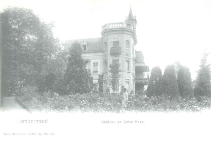Photo ancienne du château de Cokai Have, à Lambermont.