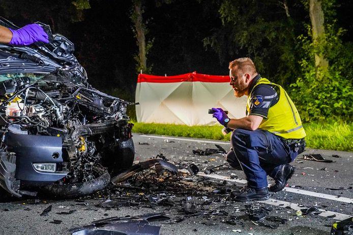 Bij het ongeluk was een auto betrokken.