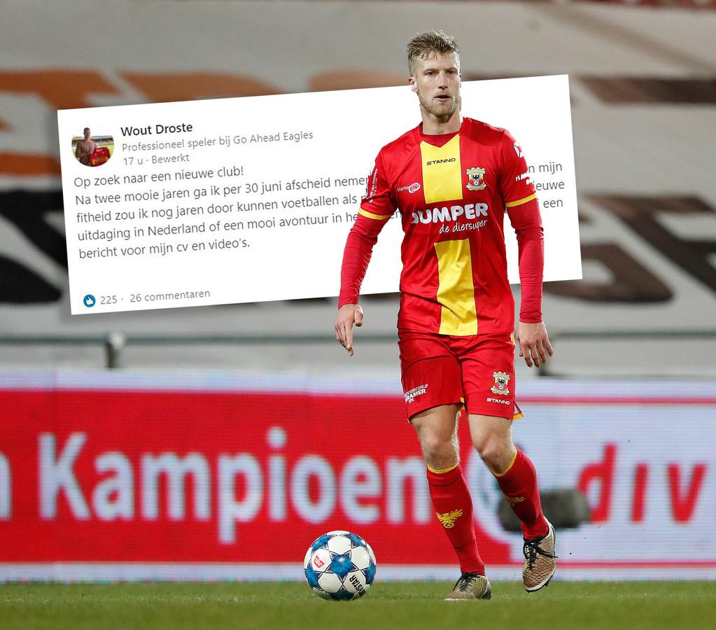 Wout Droste (31) zoekt een nieuwe club en postte een oproep op LinkedIn. Dat leverde hem al veel reacties op.