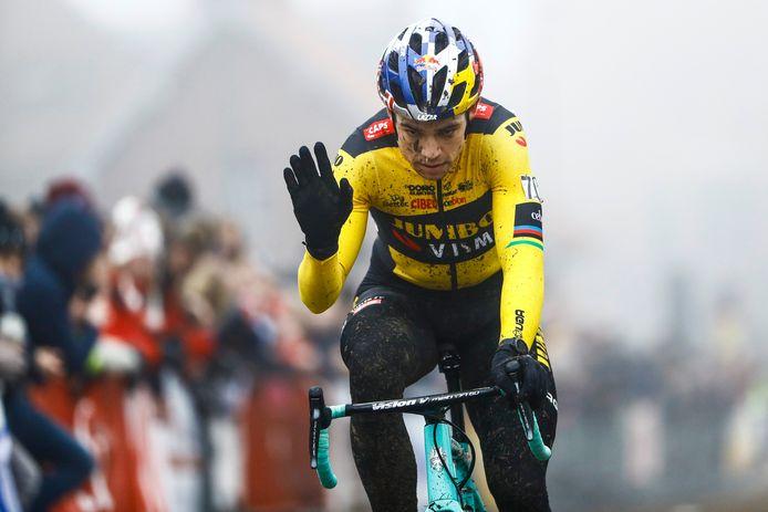 Van Aert in januari tijdens de Kasteelcross in Zonnebeke.