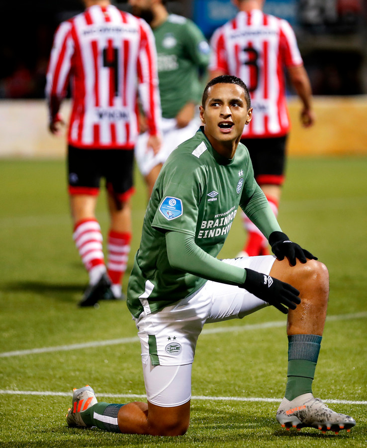 Sparta-PSV seizoen 2019/2020 Mohammed Ihattaren na een gemiste kans Foto ; Pim Ras