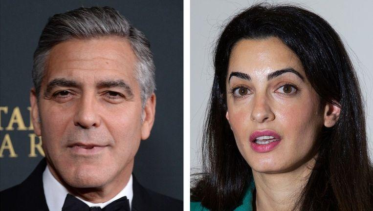 Acteur George Clooney en zijn verloofde