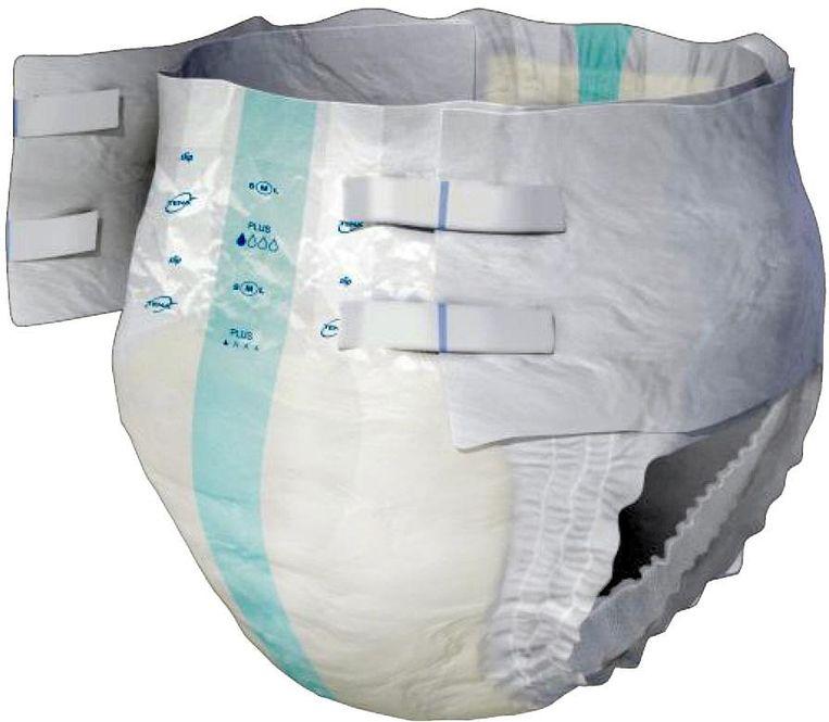 Luier die piept als baby heeft geplast. Moet huidirritatie tegengaan. Status: te koop. Beeld  audena000