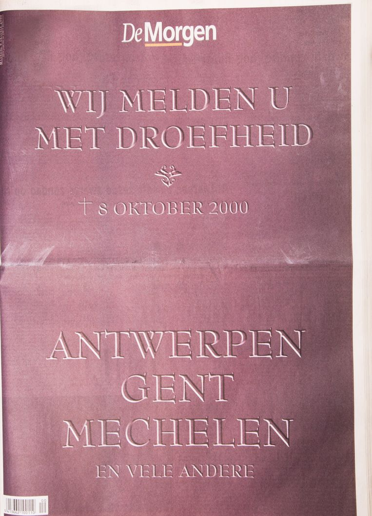 Hoe groter het Vlaams Blok werd in Vlaanderen, hoe voorzichtiger de media werden in hun aanpak. Bij de verkiezingen van 8 oktober 2000 was dat meer dan ooit zichtbaar. De Morgen dacht er anders over. Beeld Studio DM