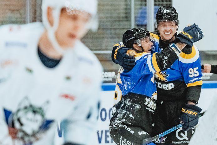 Foto: Joris Knapen / Pix4Profs  Tilburg Trappers - Kassel Huskys oefenduel ijshockey