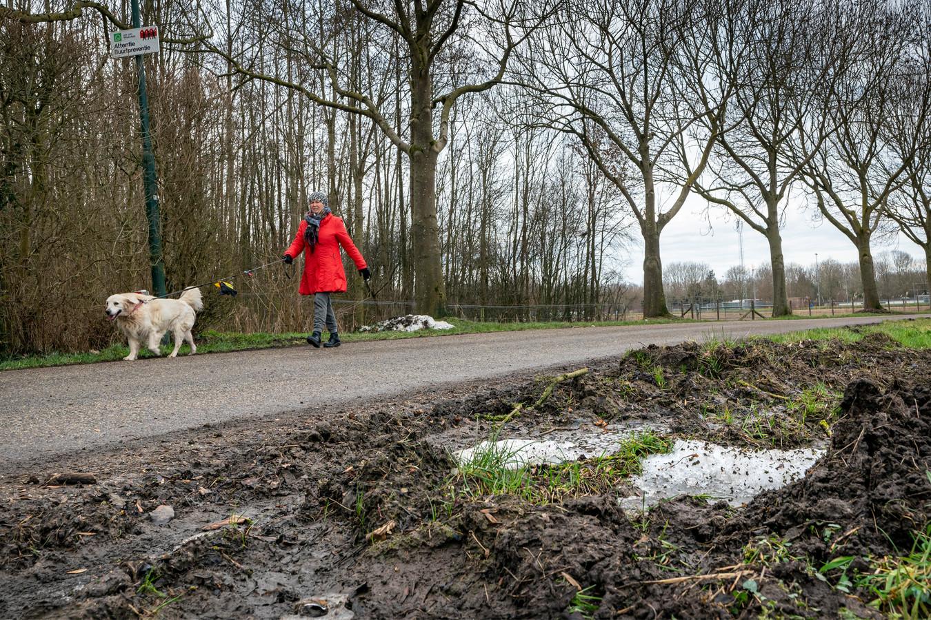 Op de vrij smalle Oosters wordt volgens buurtbewoners veel te hard gereden. Dat leidt samen met de natte en modderige bermen tot gevaarlijke situaties voor wandelaars.