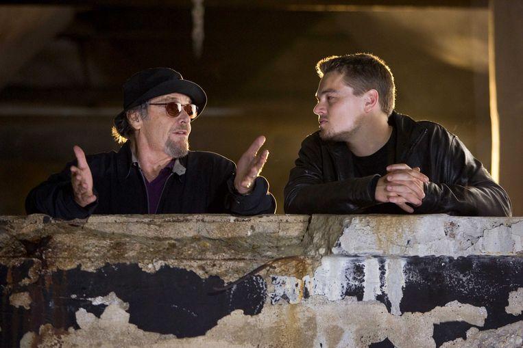 Jack Nicholson en Leonardo DiCaprio in The Departed van Martin Scorsese. Beeld