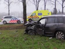 Auto's botsen frontaal in Losser, bestuurder gewond