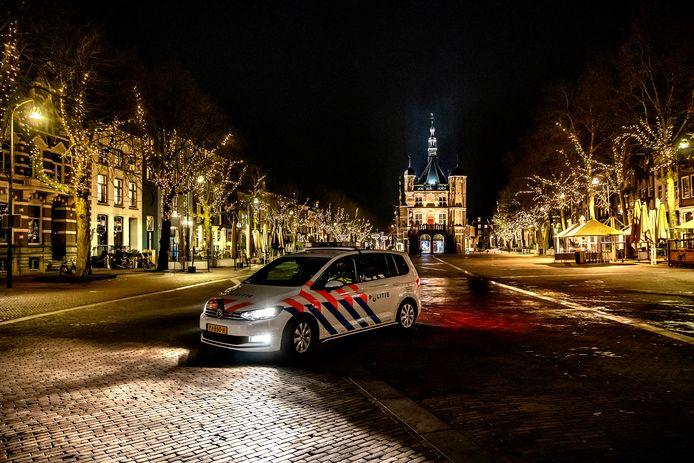 De Brink in Deventer, aan het begin van de avond.