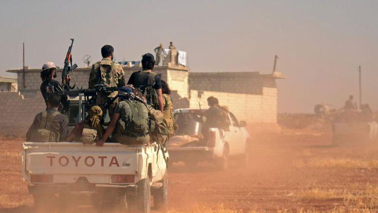 Syrische rebellen vechten tegen IS. Beeld afp