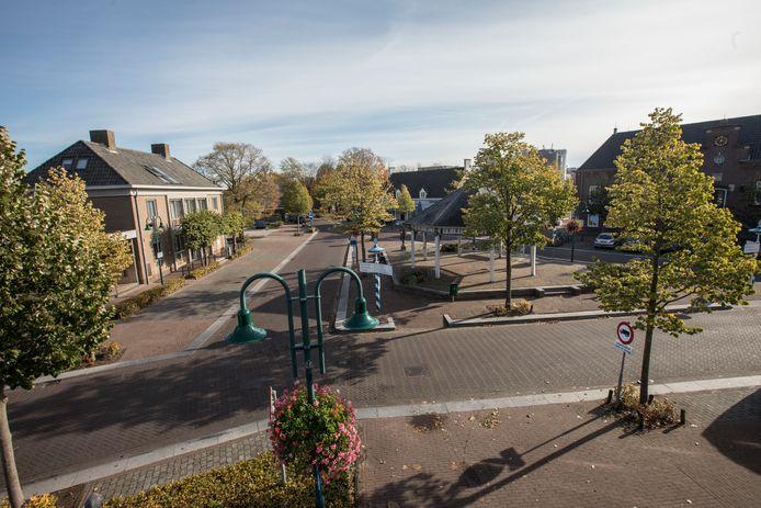 Heuvel met kiosk in Lieshout (archieffoto).