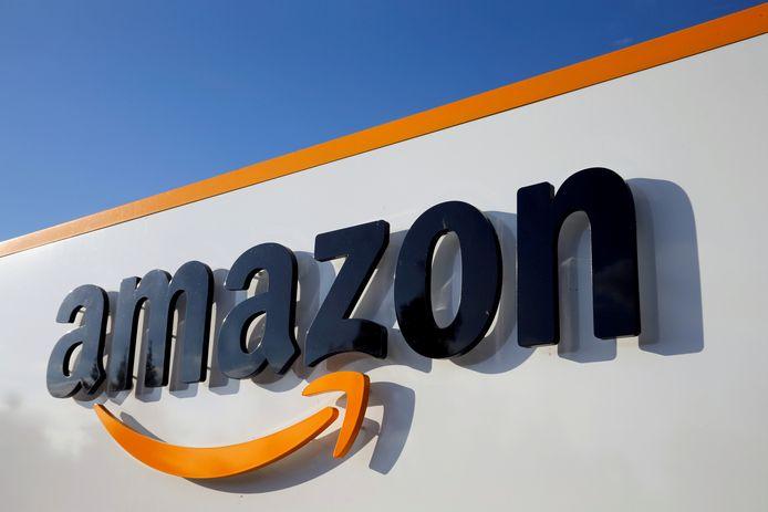 Het logo van Amazon.