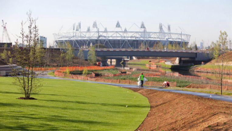 Het Olympisch Stadion in Londen is al klaar voor de Spelen in 2012. Foto EPA Beeld