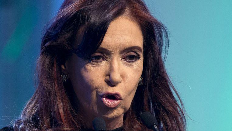 De Argentijnse president Cristina Fernandez. Beeld ap