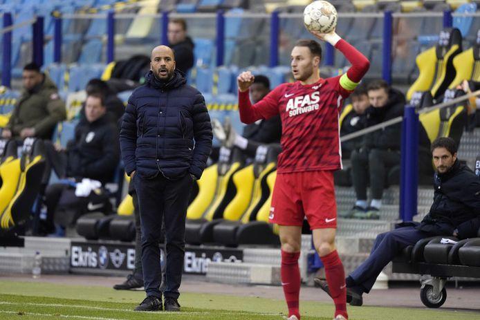 AZ-trainer Pascal Jansen en aanvoerder Teun Koopmeiners.