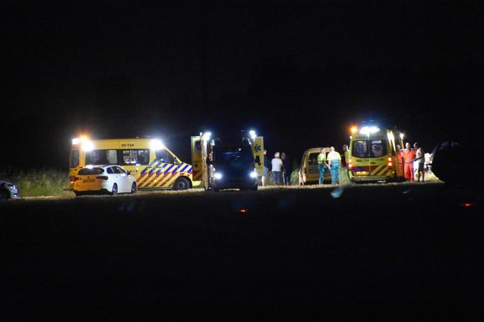 Auto in de sloot bij ongeluk in Rijswijk