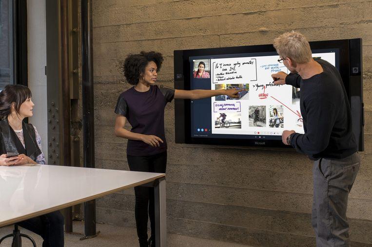 De Microsoft Surface Hub. Beeld epa