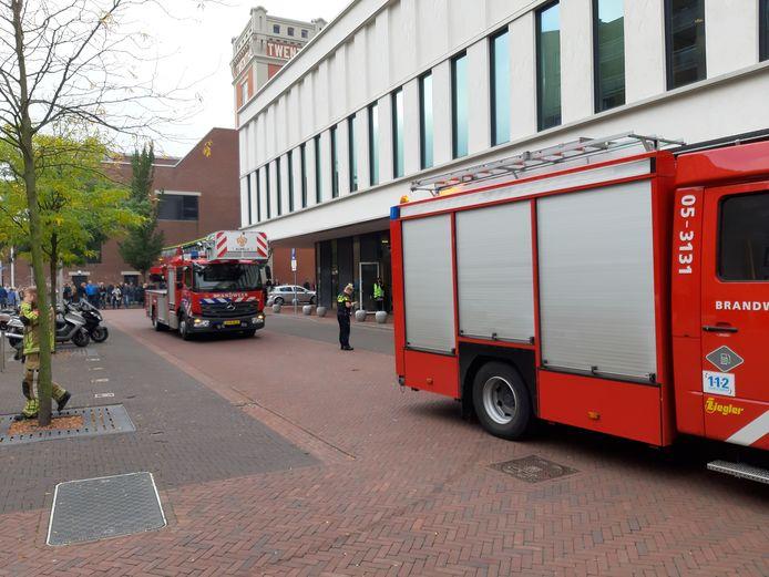 De brandweer was met twee voertuigen snel ter plaatse