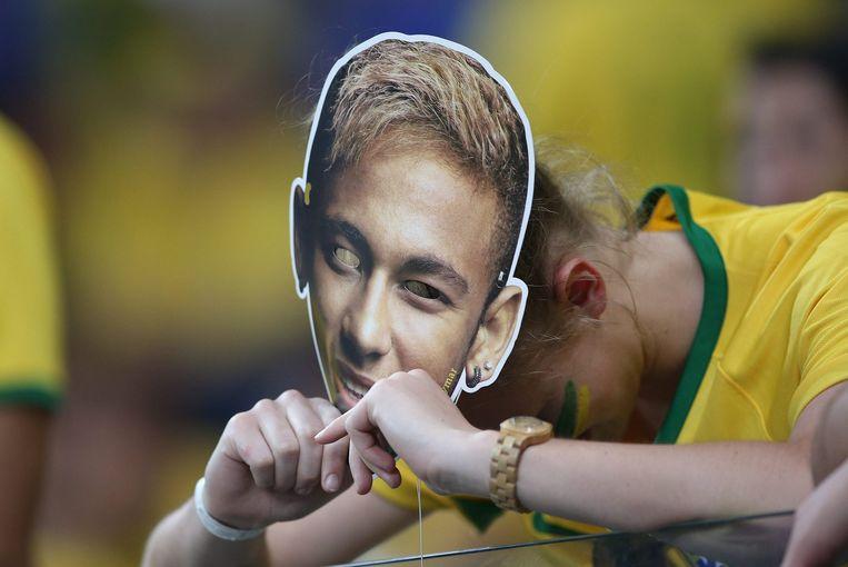 De Braziliaanse aanvaller Neymar werd gemist dinsdagavond tegen Duitsland. Beeld epa
