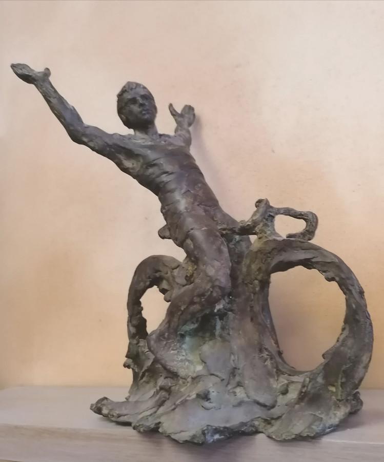 Isidoor Goddeeris maakte jaren geleden al dit ontwerp voor een standbeeld ter ere van Jean-Pierre Monseré.