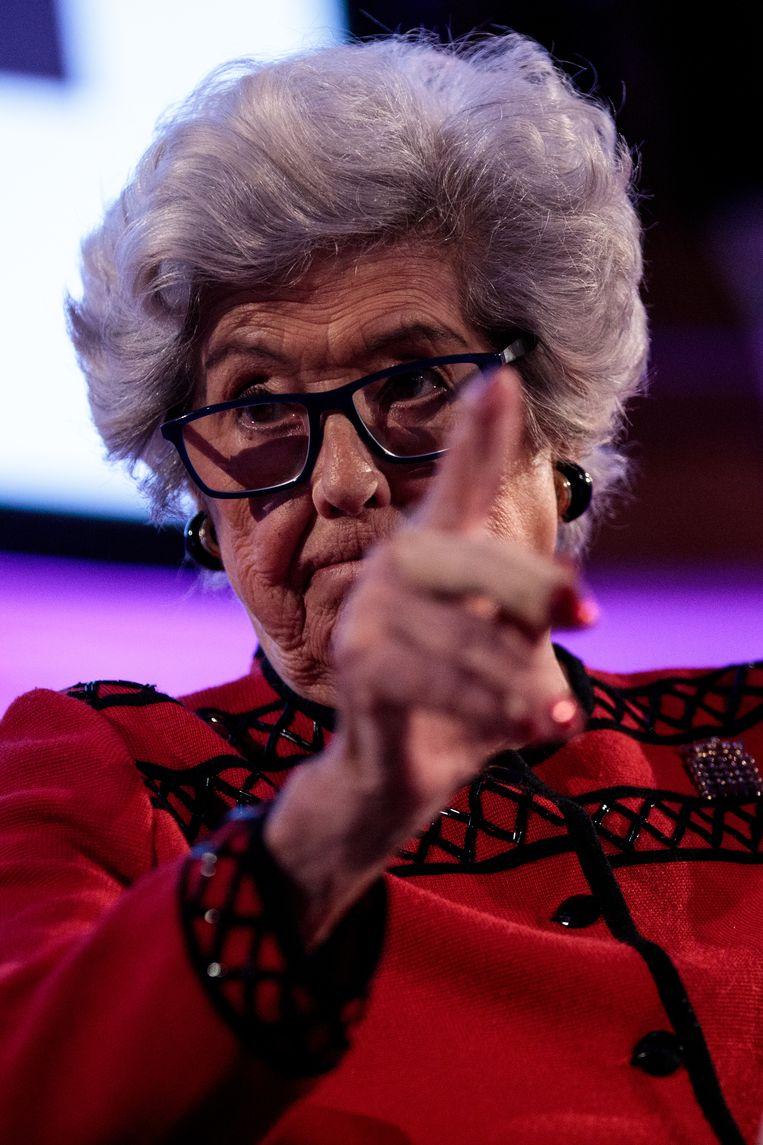 Betty Boothroyd, nu Hogerhuislid, was gevreesd als Kamervoorzitter. Beeld Getty Images