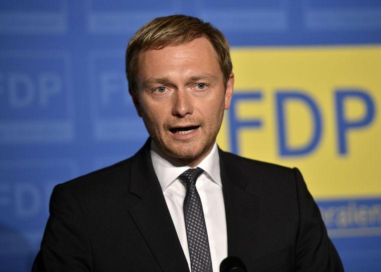 Christian Lindner, die zich kandidaat heeft gesteld voor het voorzitterschap van de FDP. Beeld AP