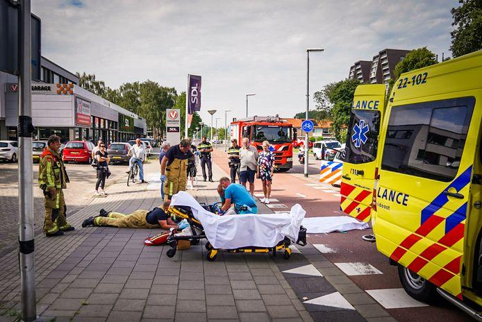 De vrouw raakte bij de botsing zwaargewond