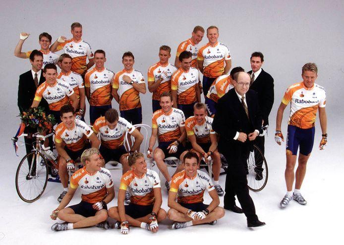 Jan Raas in 1996 bij de Rabobank-ploeg.