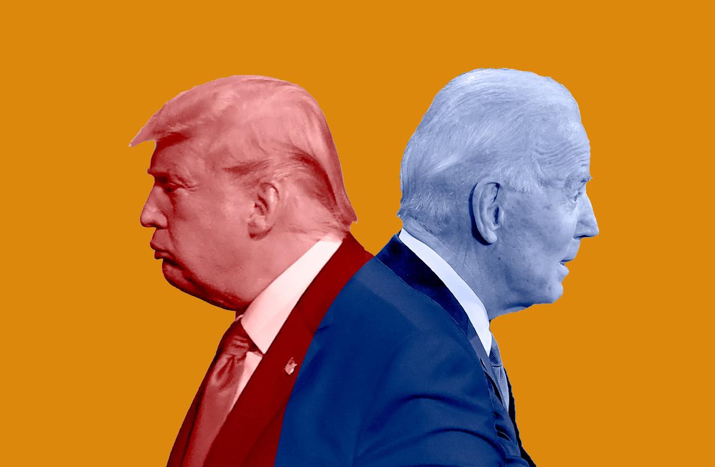 Trump en Biden Beeld Humo