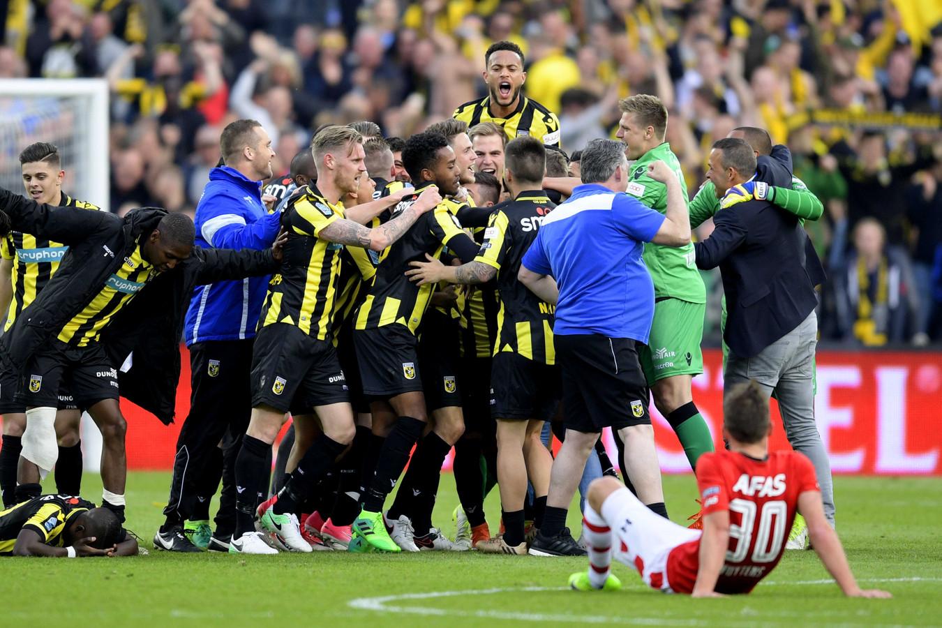 Vitesse won in 2017 de beker door in de finale met 2-0 te winnen van AZ.
