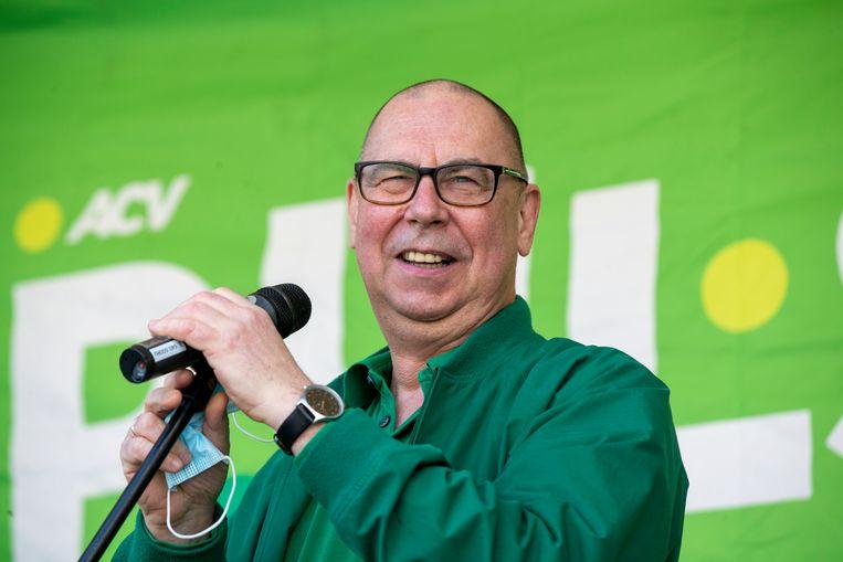ACV-voorzitter Marc Leemans heeft het consequent over 'sjoemelsoftware' als het gaat over de nieuwe berekeningswijze van de lonen. Beeld BELGA