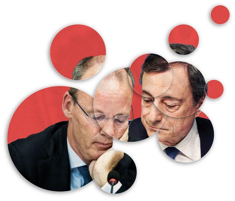 DNB-president Klaas Knot heeft al eerder aangegeven dat de noodsteun van de Europese Centrale Bank wel afgebouwd kan worden.  Beeld Brechtje Rood