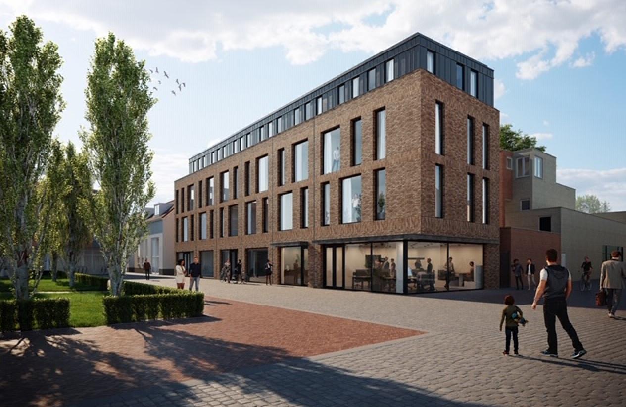 Impressie van het nieuwe gebouw aan het Bleekveld.