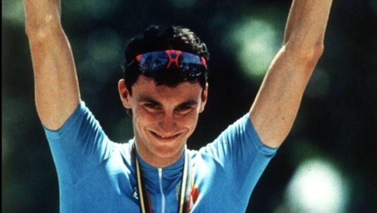 Tijdens de Tour 1995 overleed de Italiaan Fabio Casartelli na een zware val in de afdaling van de Portet d'Aspet. Beeld UNKNOWN