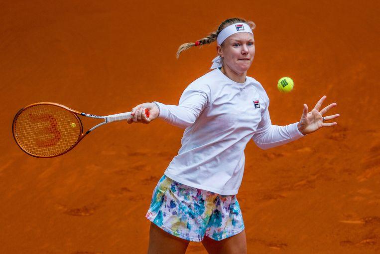 Kiki Bertens werd 1 mei uitgeschakeld in de tweede ronde van het WTA-toernooi in Madrid. Beeld EPA