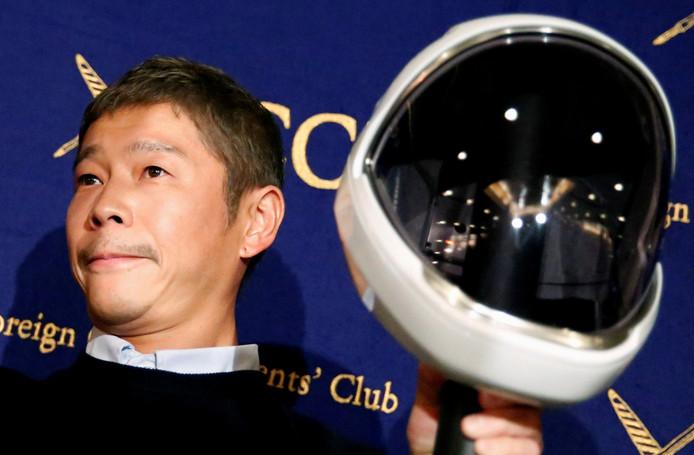 Yusaku Maezawa op een foto uit oktober 2018.