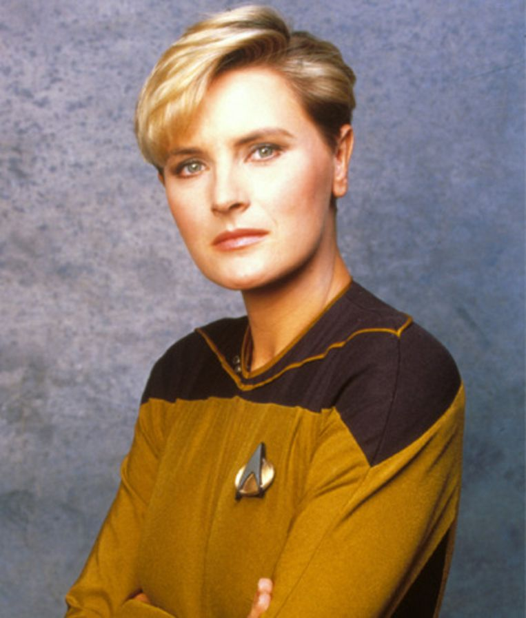 Tasha Yar, Chief Security Officer op de USS Enterprise Beeld Star Trek