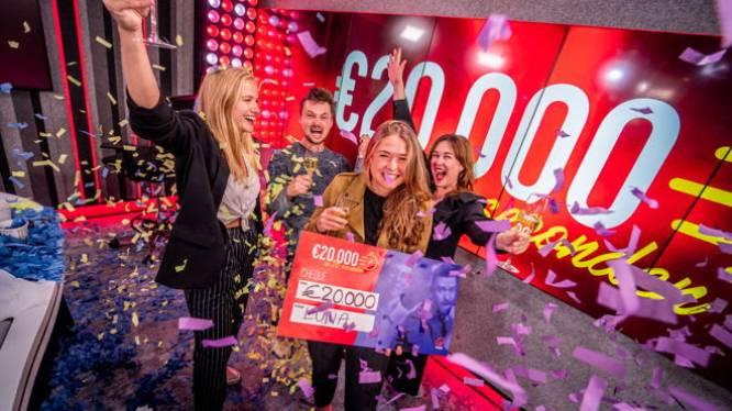 Luna uit Antwerpen raadt vijf hits en wint 20.000 euro in 20 seconden op Qmusic