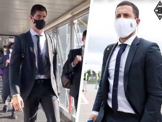Hazard en Courtois gearriveerd in Duitsland, waar Real Madrid morgen maar beter resultaat boekt tegen Gladbach