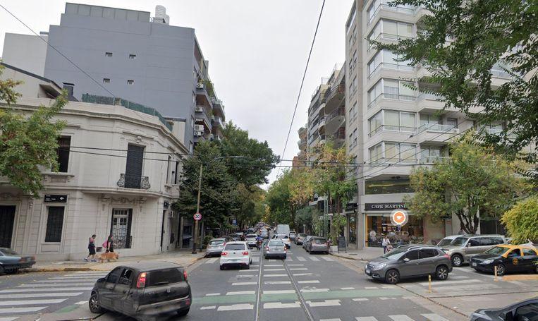 Het incident gebeurde in deze straat in Buenos Aires.